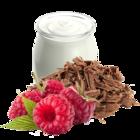 Himbeere-Joghurt mit Schokosplittern
