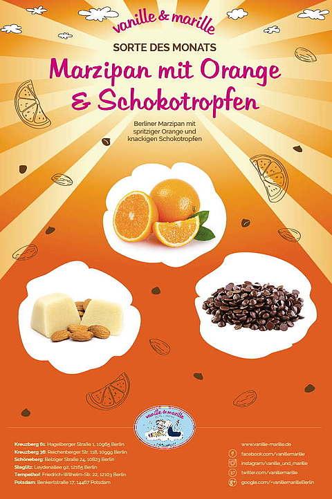 Sorte des Monats: Berliner Marzipan mit Orange und Schokoknusperperlen