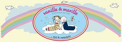 Logo, vanille & marille Eismanufaktur
