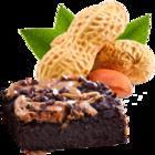 vanille & marille Sorte: Erdnuss mit selbst gebackenen Brownies (Eis aus Berlin)