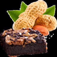vanille & marille (Eis aus Berlin): Erdnuss mit selbst gebackenen Brownies