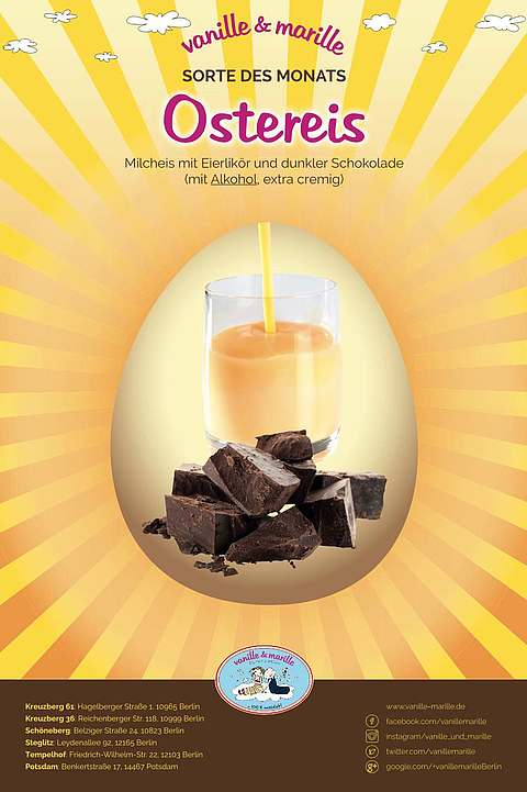 Ostereis: Eierlikör & dunkle Schokolade