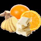 vanille & marille Sorte: Weiße Schokolade mit Orange und Ingwer (Eis aus Berlin)