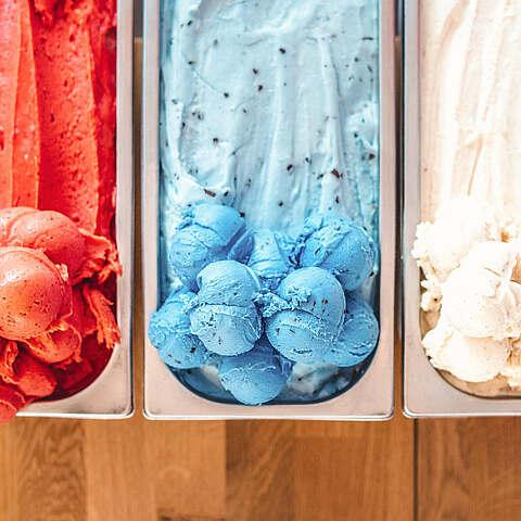 Eisschalen verschiedene Sorten