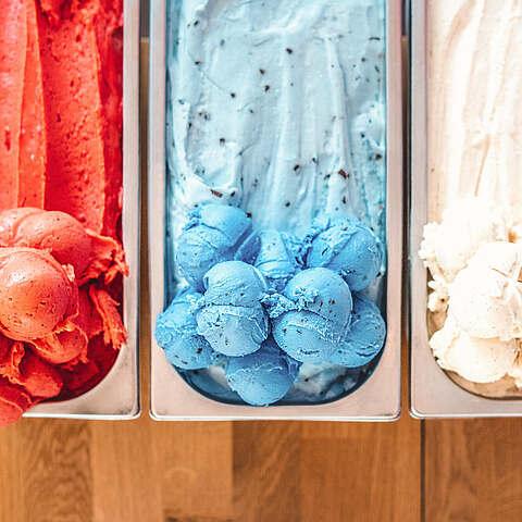 Eischalen mit verschiedenen Sorten
