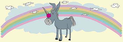 Unicorn, vanille & marille Eismanufaktur